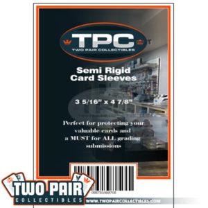 TPC Semi Rigid Card Sleeves