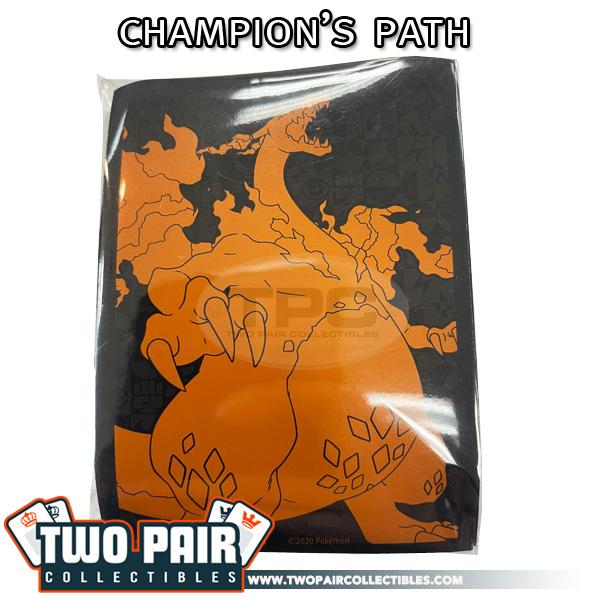 Pokemon Card Sleeves (65ct) - Champion's Path, Charizard VMAX